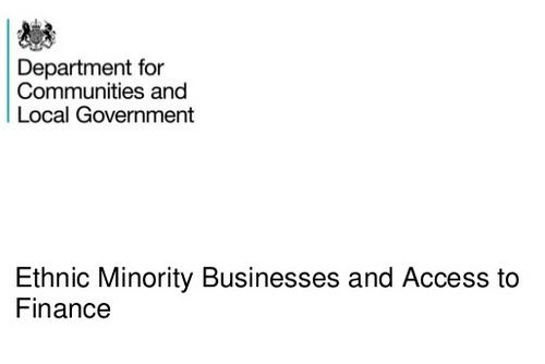 Ethnic Minority Businesses and Access to Finance